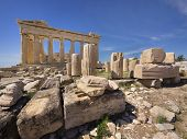 pic of akropolis  - Parthenon temple on the Acropolis of Athens - JPG