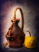 picture of molding clay  - clay pot and pumpkin - JPG