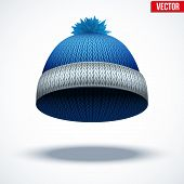 stock photo of beanie hat  - Knitted woolen cap - JPG