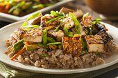 image of stir fry  - Homemade Tofu Stir Fry with Vegetables and Rice - JPG