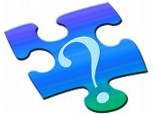 picture of question-mark  - Puzzled question mark - JPG