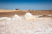 stock photo of tozeur  - Chott el Djerid (biggest salt lake in north africa) Tunisia