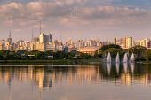 picture of obelisk  - Amazing view of Sao Paulo city from Ibirapuera Park  - JPG