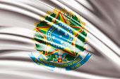 stock photo of bandeiras  - Amazing Flag of the Coat of arms of Brazil - JPG