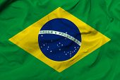 stock photo of flutter  - Amazing Flag of Brazil - JPG