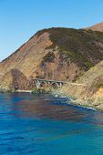 foto of bixby  - The Big Sur and its rocky coastline on a wonderful day in USA - JPG