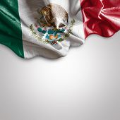 picture of democracy  - Waving flag of Mexico - JPG