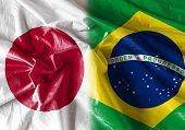 picture of bandeiras  - Flag symbolizing the relationship between Japan and Brazil  - JPG