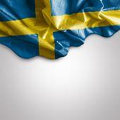 picture of sweden flag  - Waving flag of Sweden - JPG