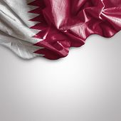 picture of democracy  - Waving flag of Qatar - JPG