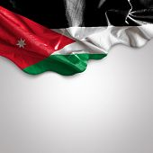 image of amman  - Waving flag of Jordan - JPG