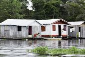 foto of social housing  - Floating Houses in Manaus - JPG