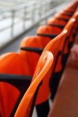 image of grandstand  - Grandstand seats in the stadium - watching sports.