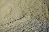 picture of sand gravel  - Pile of green gravel  - JPG