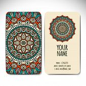 stock photo of pagan  - Set business card - JPG