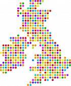 Постер, плакат: Великобритания точка карта
