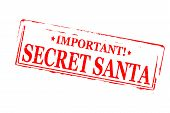 pic of significant  - Rubber stamps with text secret Santa inside vector illustration - JPG