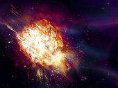 picture of big-bang  - Big exploding in the space abstract science background - JPG