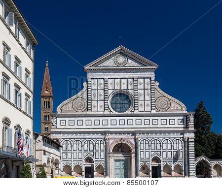 Basilica Of Santa Maria Novella And Campanile, Florence, Italy