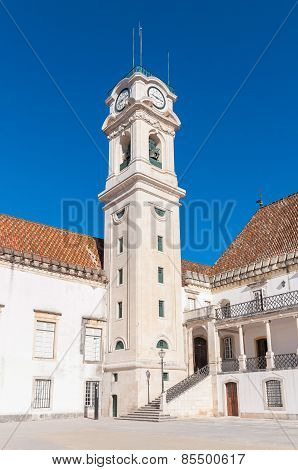 The Clock Tower Of Coimbra University