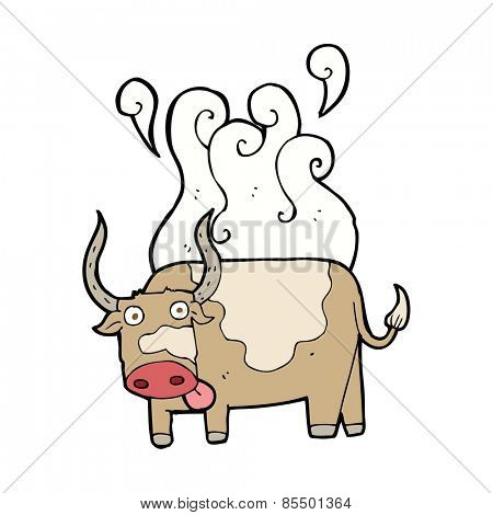 cartoon steaming bull