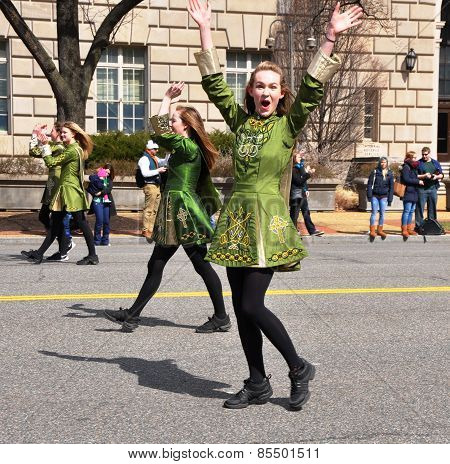 Dancers in the Saint Patrick's Day Parade