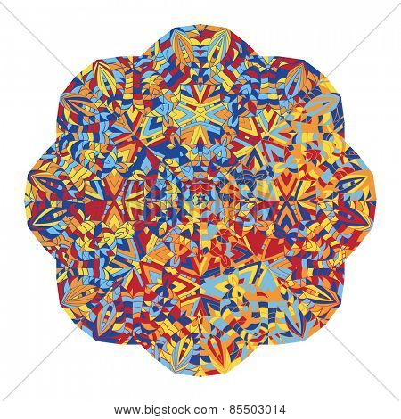 New abstract image with kaleidoscope