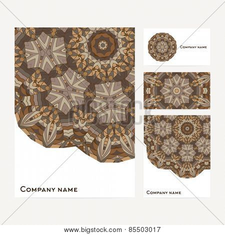 Corporate identity business set design Abstract background
