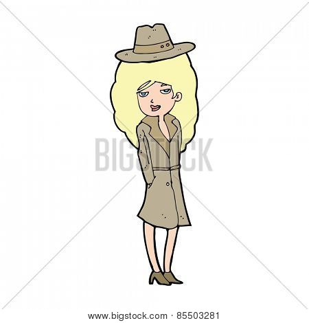 cartoon female spy