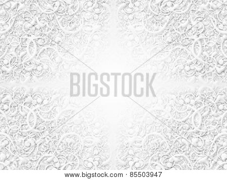 Abstract Scroll White Background Pattern