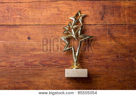 star award with space for text on white background