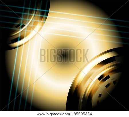 Circle light abstract background
