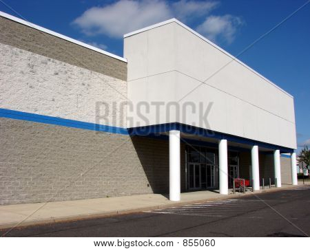 Vacant Big Box Store Empty Entrance