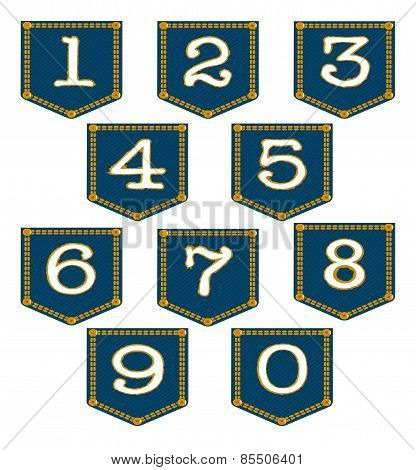 Denim Pocket Numbers
