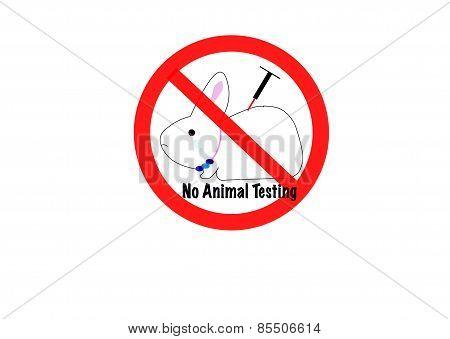 no animal testing concept