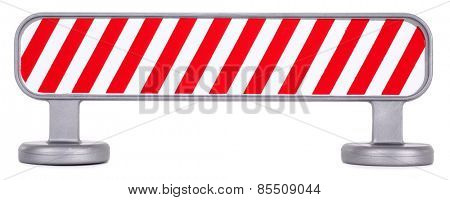 Traffic barrier barricade fence striped