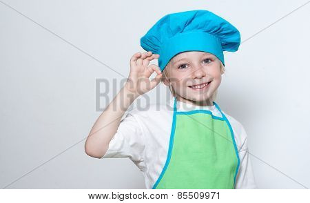 Child as a chef cook