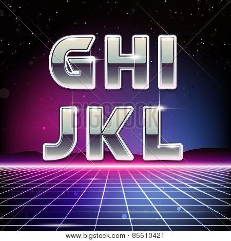 80s Retro Sci-Fi Font