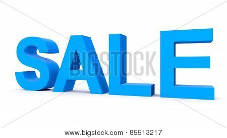 Sale - Blue 3D Letters Isolated On White