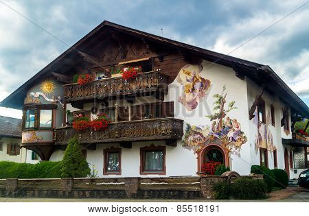 Old House In The Bavarian Style