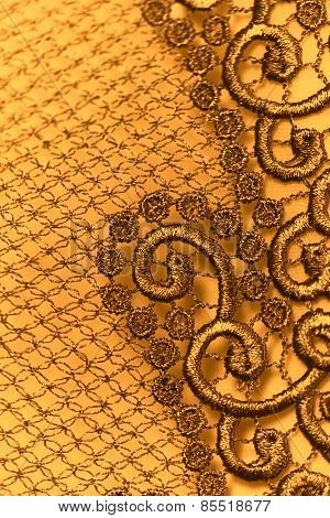 Decorative Yellow Lace