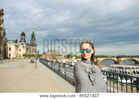Beautiful urban woman in Dresden, Germany