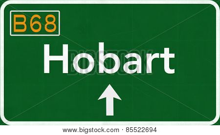 Hobart Australia Highway Road Sign