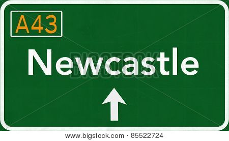 Newcastle Australia Highway Road Sign