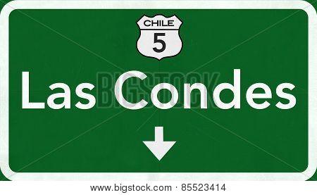 Las Condes Chile Highway Road Sign
