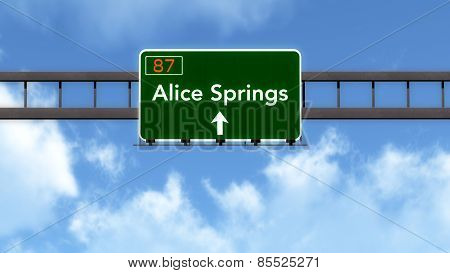 Alice Springs Australia Highway Road Sign
