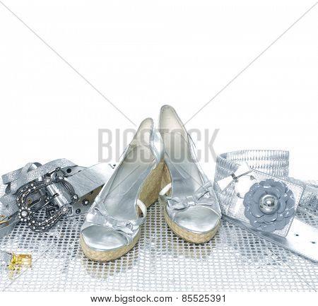 Woman belt and shoe