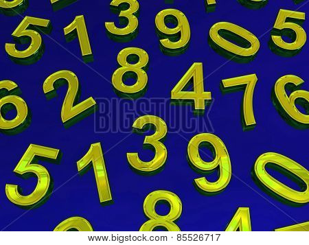 Background of numbers. from zero to nine.