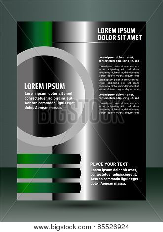 Black flyer Leaflet template design