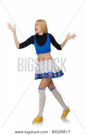 Cheerleader isolated on the white background